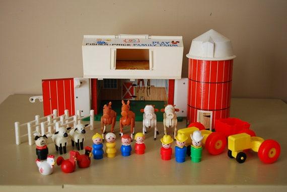 Vintage Fisher Price Play Family Farm
