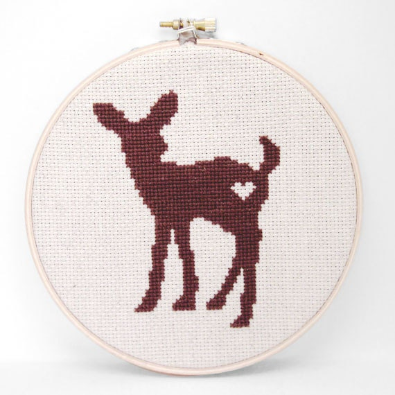 Finished Cross Stitch Wall Art - Deer