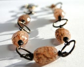 NEW Fall Collection - Bracelet, Feldspar Faceted Gemstones, Black Onyx, Gift for Her, Fall Accessories