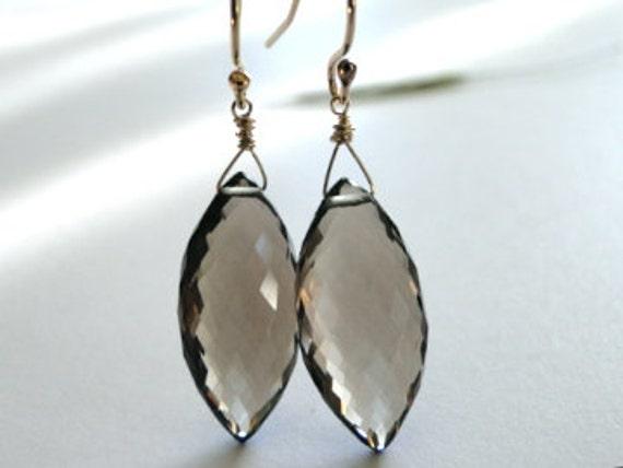 Jewelry Earrings Last Pair - Earrings Smokey Topaz Gemstone Earrings, Gift for Her, Christmas Gift Last Pair, Luxe Jewelry