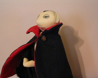 Primitive Halloween Dracula Doll
