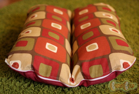 Deluxe Bunbed Dachshund Dog Bed, Small Breed Dog Bed, Mid Century Modern Mod Eames Red Squares, Hot Dog Bed, Dog Burrow Bed, Dachshund Bed