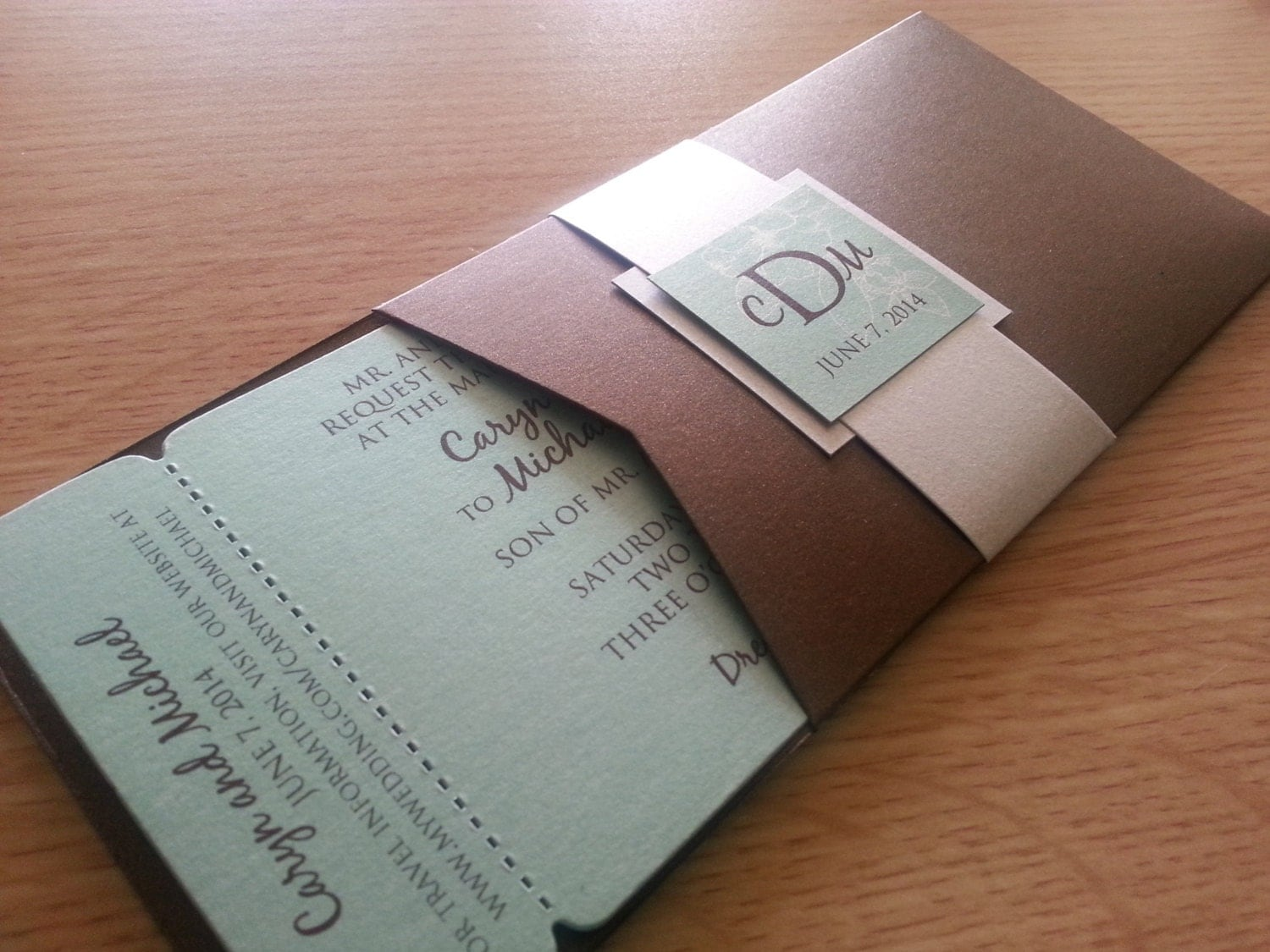 Tropical Love Boarding Pass Wedding Invitation by theinspirednote