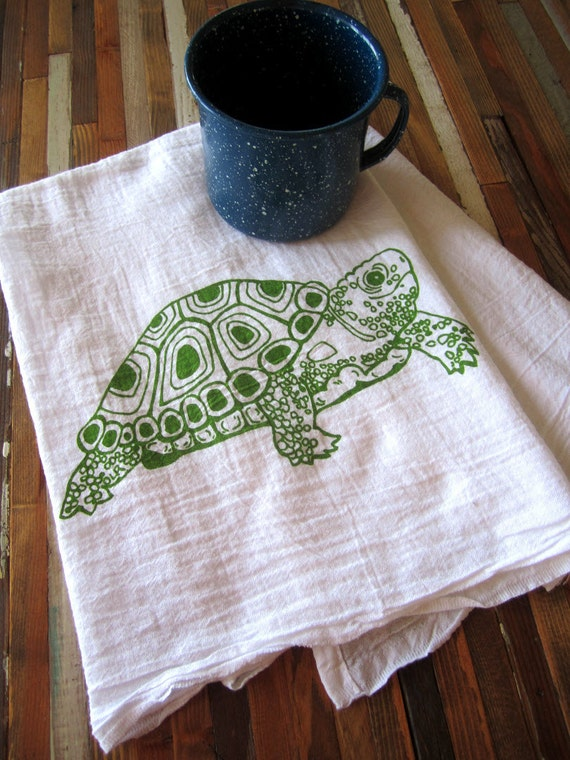Tea Towel Screen Printed Flour Sack Towel Eco Friendly