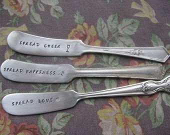 Gift Set of Antique Personalized Spreaders