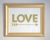 Love Struck Art Print  - GOLD OR SILVER - by Flair Designery