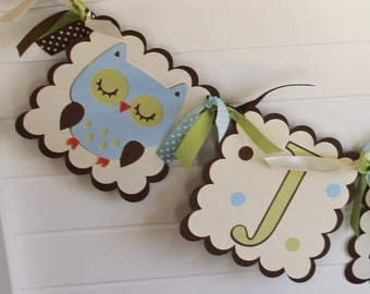 Forest Friends Banner -Birthday or Baby Shower up to 6 letters