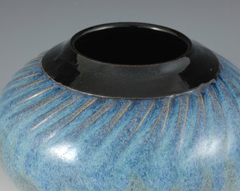 Blue Stoneware Vase