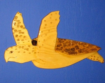 Turtle Hawksbill Wall Hanging, Wall Plaque, Hawksbill Turtle, Turtle, Turtle Wall Plaque, Turtle Wall Hanging