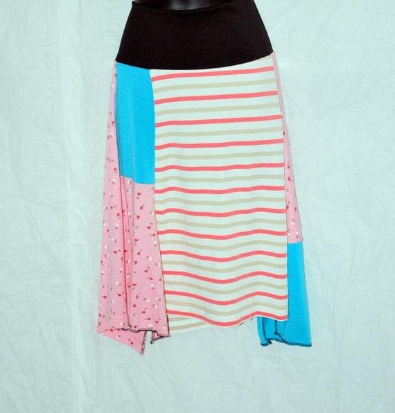 Recycled tee shirt skirt  medium  CLEARANCE