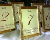 Set of (20) partially covered Gold Rhinestone 5x7 Photo Frames- Wedding or Special Event