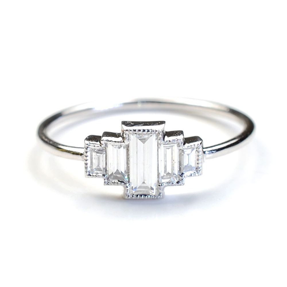 diamond engagement ring engagement ring baguette engagement