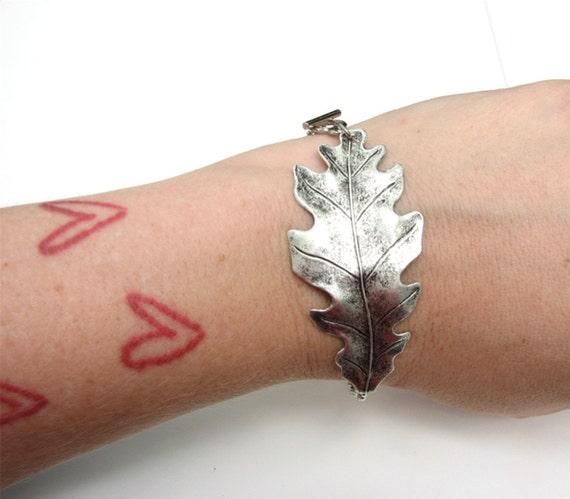 oak leaf bracelet - nature jewelry