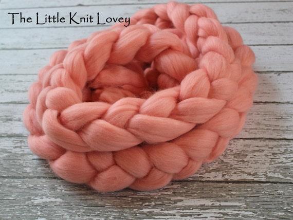 Beautiful Merino Wool Posing Braid for Baby, Photography Prop in Salmon Pink