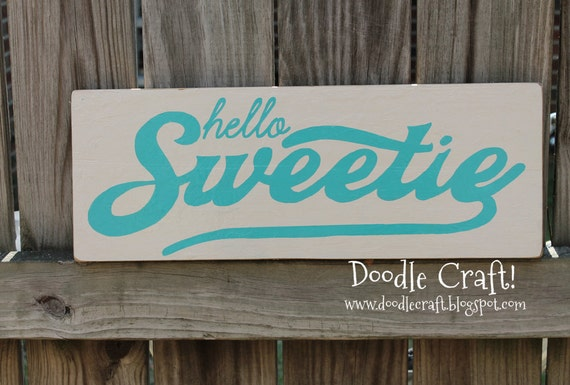 Hello Sweetie River Song Doctor Dr Who inspired Geekery Sci-fi wood sign