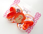 Thanksgiving Turkey Boutique Hair Bow