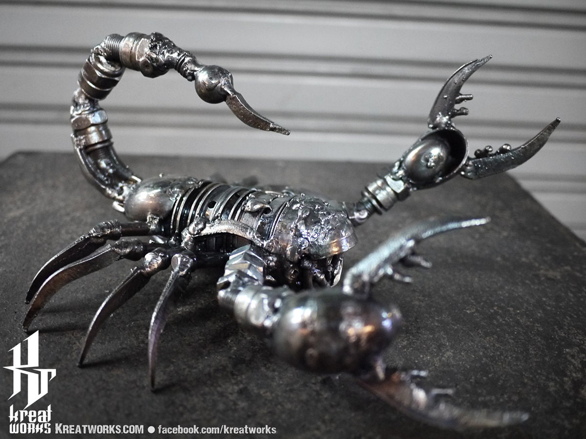 Metal Sculpture Metal Poison Scorpion Small Item
