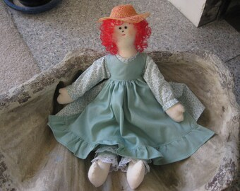 Cloth Doll Colonial Handmade 17 inches