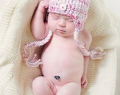 Earflap Hat for Baby - Photography Prop More Color Choices Available