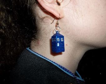 Doctor Who TARDIS inspired earrings