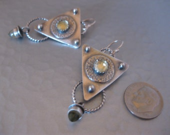 Lemon Drops  Lemon Quartz and Sterling Silver Earrings