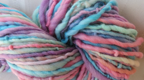 Gypsy Rainbow handspun Art yarn 60 yards