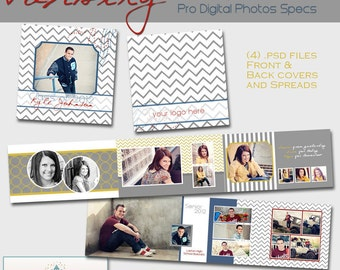 Seniors - Varsity 3x3 Mini-Accordion Album- custom photo templates for photographers on WHCC, Millers Lab and Pro Digital Photos Specs