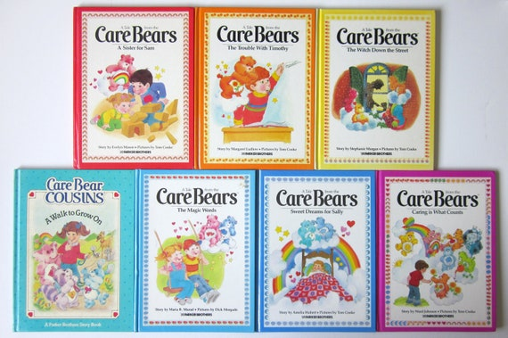 Vintage Care Bears and Cousins Parker Brothers Books