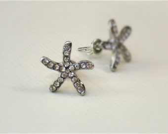 Bridal Rhinestone Starfish Stud Earrings Bridal Wedding Jewelry Beach Wedding Summer Wedding Must Have Accessory for Spring Summer 2013.