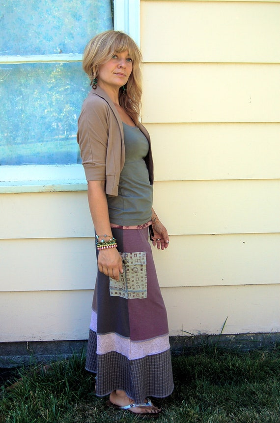Patchwork Eco Gaucho Pants, upcycled, clothing, yoga, festival, hippie,  cargo pocket  muted mix,peace sign/ face graphic, size M/L by Zasra