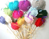Puffy 13 different colors cotton hearts to bouquet any decor,gifts.