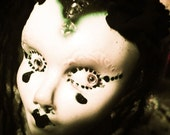 a d u l t  SeVen Severance...handmade Frozen Harlotte OOAK art doll of kiln fired stoneware ceramic clay