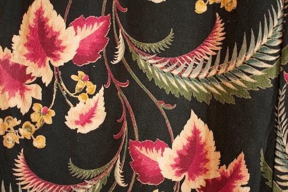 Large Vintage ORANGE BLOSSOM Bouquet BARKCLOTH Curtains (panel 2)