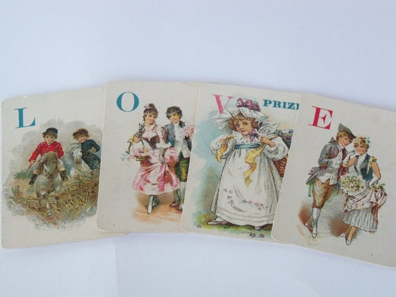 Antique Victorian Playing Cards-Images-LOVE-Altered Art-Collage-Mixed Media