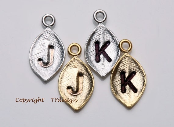 Add Tiny Leaf initial,Silver or Gold