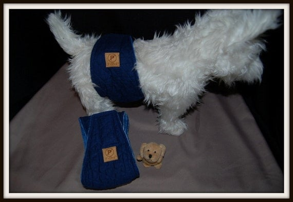 """Clearance priced: Fur Budy Products No Pee Belly Band Diaper for Boys 5"""" Wide, 16.5-18.5"""" waist"""