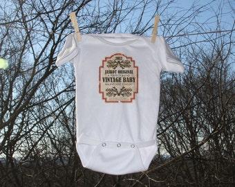 Wine Lovers Personalized Vintner & Vintage Label Infant Bodysuit