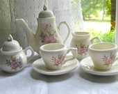 Miniature China Doll Tea Set / Floral