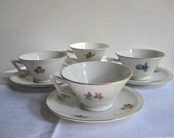 Demitasse Tea Cups and Saucers / Czech