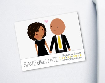 Save the Date Magnet format - custom cartoon - Keep It Classy design