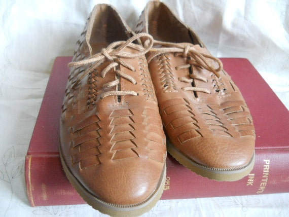 RESERVED for Robert Evans REGENT Woven Lace-Up Oxford