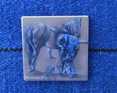 Coaster - sandstone, original artwork, Farrier