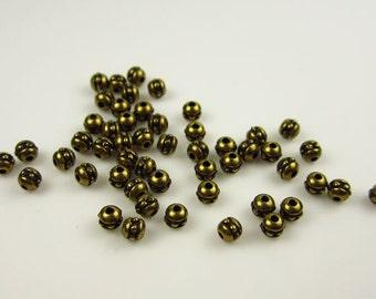50 Tierracast Brass Oxide 8/0 Beads