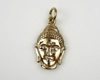 Natural Bronze Buddha Head Charm