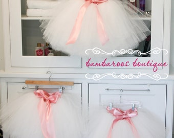 flower girl dress, flower girl dresses, tutu, tulle, white, dusty rose tutu
