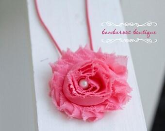 pink baby headband, baby headbands, princess pink, infant headband