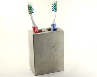 Concrete Toothbrush Holder 2