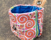 Tribal  Coin Purse , Coin  Purse  Button and  Leather  , Small  bag
