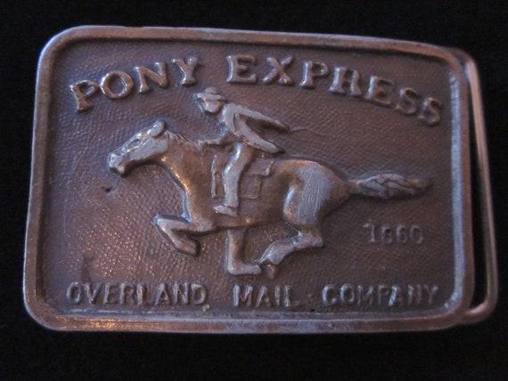 Vintage PONY EXPRESS Belt Buckle