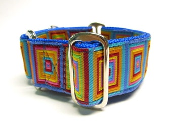 """Houndstown 1.5"""" Rainblocks Unlined Martingale Collar Size Small, Medium, or Large"""